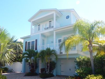 Photo for Sunny Disposition - 5Bedroom/4.5Bath, 1 Block to Beach, Heated Pool