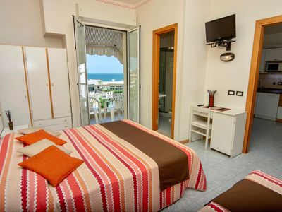 Photo for Cozy apartment for families in Residence, in the center and on the sea