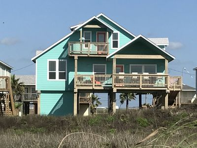 Photo for Beachfront views, New 5 bedroom 3 bath with 2 masters in Surfside. Pets allowed.