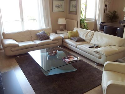 Photo for Beautiful air-conditioned apartment with view on the Rhone