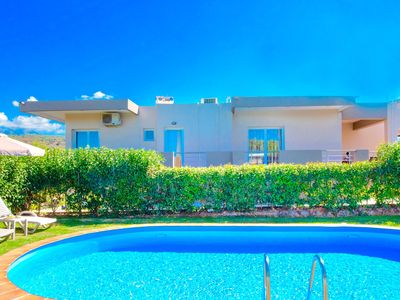 Photo for Large villa with private pool. sleeps 14, free wi-fi, in traditional village
