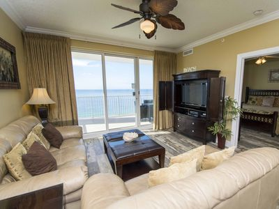 Photo for Beachfront, Corner Unit Condo! Huge Balcony with Views for Miles! Indoor and Outdoor Pools