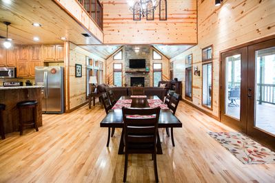 Spacious, open floor plan.  Prepare meals while visiting with guests.