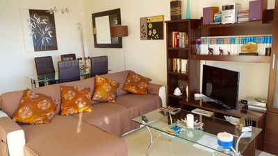 Photo for 2 room apartment, 50 meter from the beach, common pool