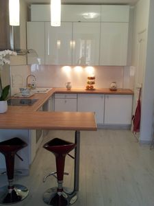 Photo for FRONTIERE CENTER MONACO, air conditioning. 2 bedrooms, 2 bathrooms, 2 toilets.