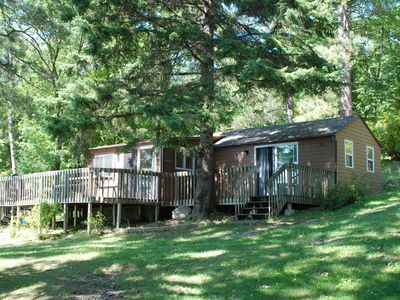 Photo for 2 Bedroom Cabin Nestled in the Pines on Quiet Lake