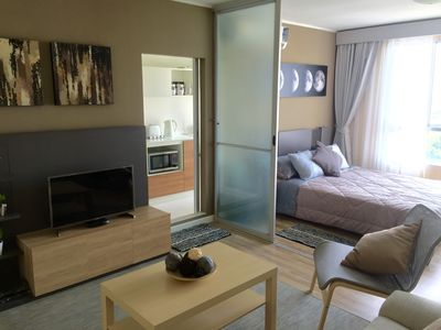 Photo for Close to Suvarnabhumi Airport, Spacious modern studio with wifi, IPTV, Coffee