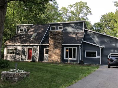 Photo for 5 BR home with pool in walking distance of track and downtown Saratoga Springs