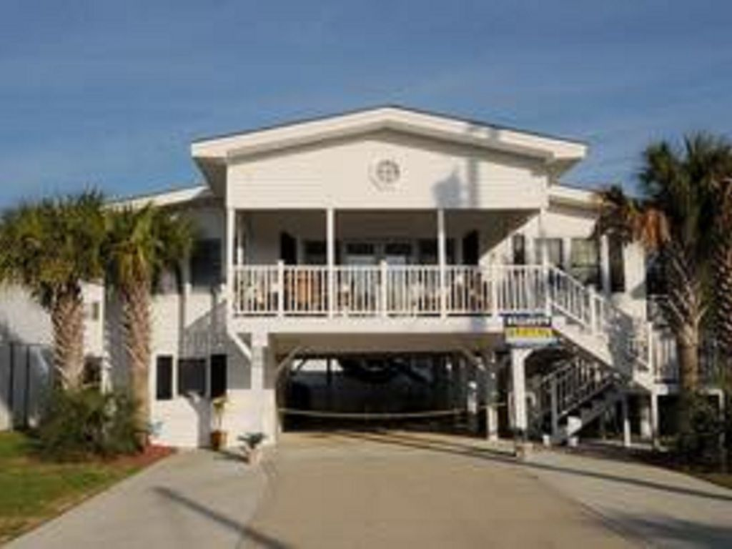 Charming Raised Beach House Nestled In Cherry Grove Just Steps From The