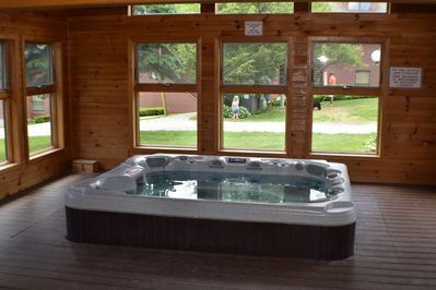hot tub in amenity building  This unit is under renovation more pictures to come