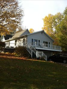 Photo for Beautiful Lake Charlevoix/Boyne City Waterview Home-4 Seasons
