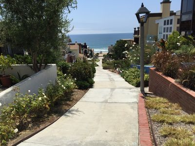 Photo for Walkstreet Beach house, Ocean Views and Steps from the Beach, Park & Restaurants