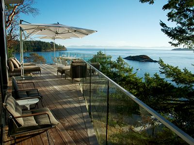 Photo for Bowen Island Boutique Beach House with Private Beach & Mooring