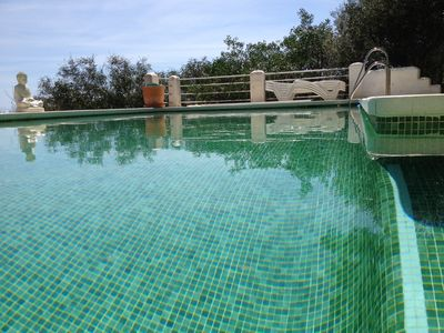 Photo for rustic villa, private pool, ADSL, panoramic view of the coast, mountains and sea