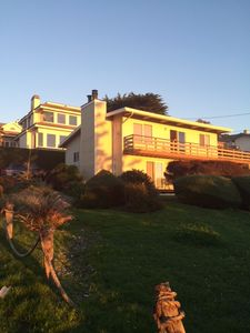 Outside Front of Park Hill Ocean View - Deck for beautiful Sunset Views