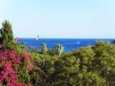Photo for Cozy apartment: Beautiful sea view + garden in Hammamet center seafront