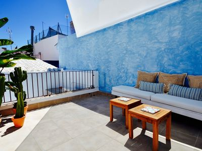 Photo for CASA AZUL stunning house a few metres from the bea