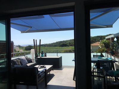 Photo for Beautiful modern apartment with panoramic views - 500 m from the beach - Wifi - South -