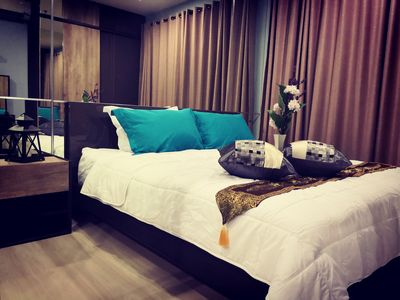 Photo for Bangkok Modern Condo Near Train | 50M to MRT & 150M to APL