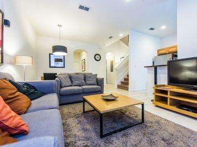 Photo for Elegant 4 bedroom resort townhouse with private spa near all Disney parks