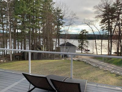 Photo for New 4 Bed, 3.5 Bath with water sandy beach Sebago Lake access