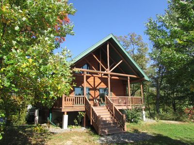 Photo for Quiet Getaway Retreat Log Home near  Mille Lacs Lake
