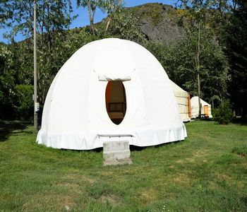 Photo for Camping du Viaduc ** - Tent Wigmam 3 Rooms 4 People