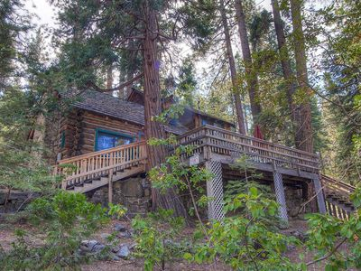 Photo for Historic Log Cabin, Private Beach, Filtered Lake Views, Deck, BBQ (NVH0581)