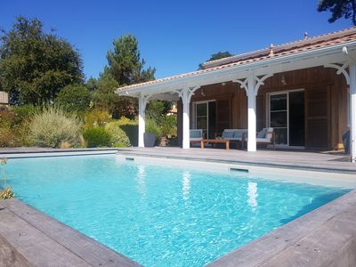 Photo for Delicious Villa with heated pool at the gates of Pyla
