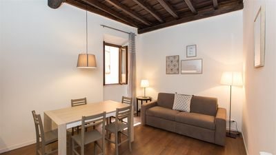 Photo for Calm but Central Trastevere apartment in Via della Pelliccia