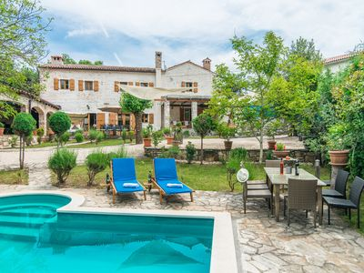 Photo for Authentic Istrian Luxury Stone Villa with Private Pool and Charming Green Garden