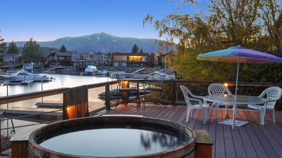 Photo for Waterfront BoatDock & HotTub, Romantic Fireplace, Casinos; Sierra Mountain Views