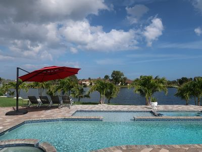 Photo for Peaceful Waterfront Home - Pool, Hot Tub, Sun Shelf, Home Theater, Massage Chair