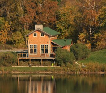 Photo for Summer dates available! Stay at our cabin sitting 20' from shore w/ large deck.