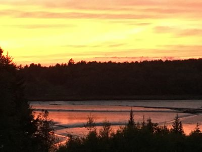 Sunset at low tide on Grand Marsh Bay
