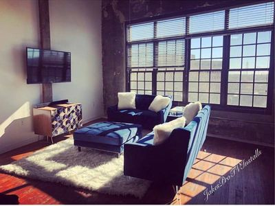 Photo for BEAUTIFUL LOFT DOWNTOWN 5 MIN WALK FROM THE MERCEDES BENZ STADIUM