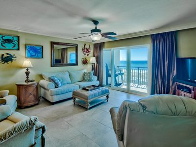 Photo for Clean Corner Gulf Front Condo with 3 Plush Rocker Recliners and Beach Service!