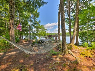Photo for NEW! Waterfront Great Pond Cottage w/Views+Hot Tub