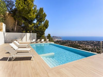 Photo for BENIMUSLEM - Modern villa with amazing sea views, 10 min. away from Moraira