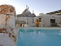 What a beautifully renovated Trulli house with its own pool.