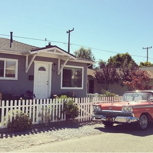 Our beautiful beach home and vintage car!