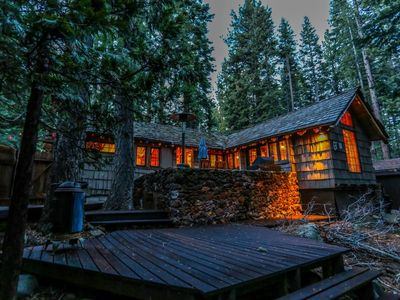 Photo for Casa Chica: Vintage and Charming Old Tahoe Log and Stone Cabin
