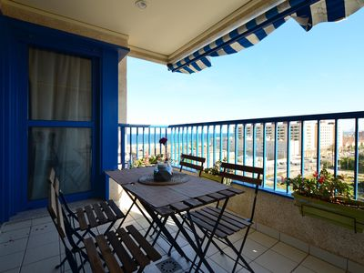Photo for Quiet apartment by the sea with great views and 24 hour security.