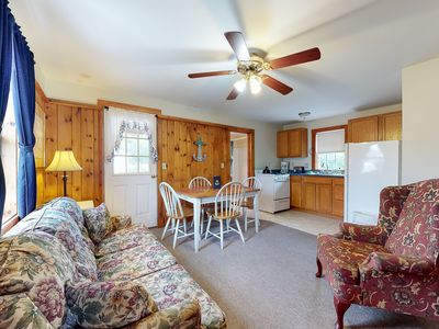 Photo for New listing! Simple cottage w/ porch & shared pool - steps to restaurants!