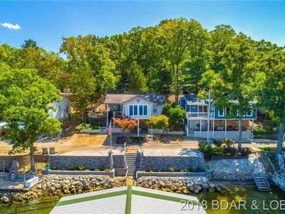 Photo for Beautiful View, dock and boat slip, walk to Bagnell Dam, tiki deck w/gas grill