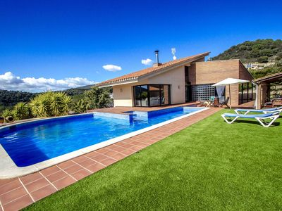 Photo for Villa Montbui with mountain views for 8 guests, 45 min to Barcelona!
