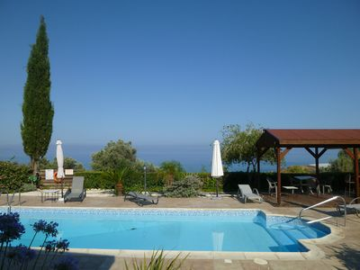 Photo for This 3-bedroom villa for up to 6 guests is located in Agia Marina and has a private swimming pool, a