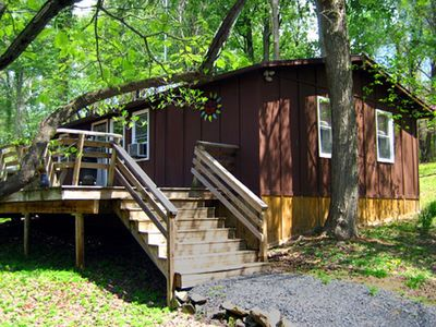 """Photo for """"Hot Tub Heaven Cabin #7 - Cabins for Rent in Linden, Virginia"""