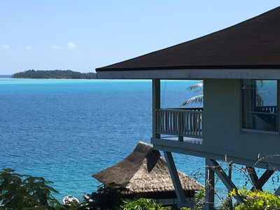 Photo for Gorgeous Lagoonfront Villa In Bora Bora Perfect spot for honeymooners & families