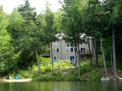 Photo for Waterfront 4 BR, Private Beach, ac, Foliage, Near White Mountain Ski Resorts